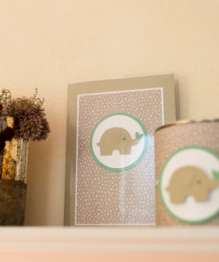 Spardose und Sparbuchhülle Elefant A